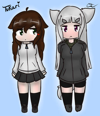 Digital Art - Chibi Tukari and Hako