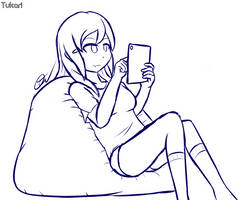Digital Sketch - Relaxed by Tukari-G3