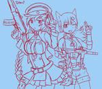 Digital Sketch - Girls' Frontline: OTs-12 and IDW