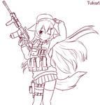 Digital Sketch - Shiori Combat