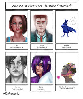 6 characters challenge from my friends