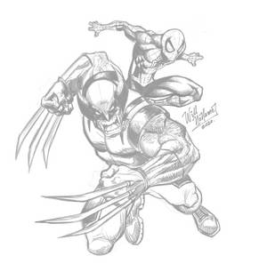 Spiderman and Wolverine