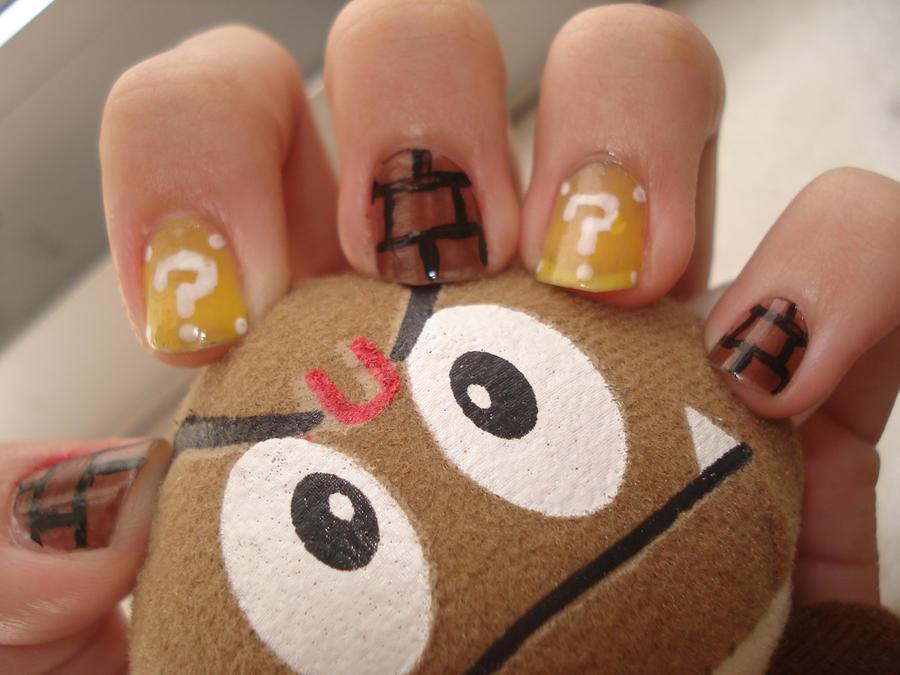 Mario Nails by Camilicks on DeviantArt