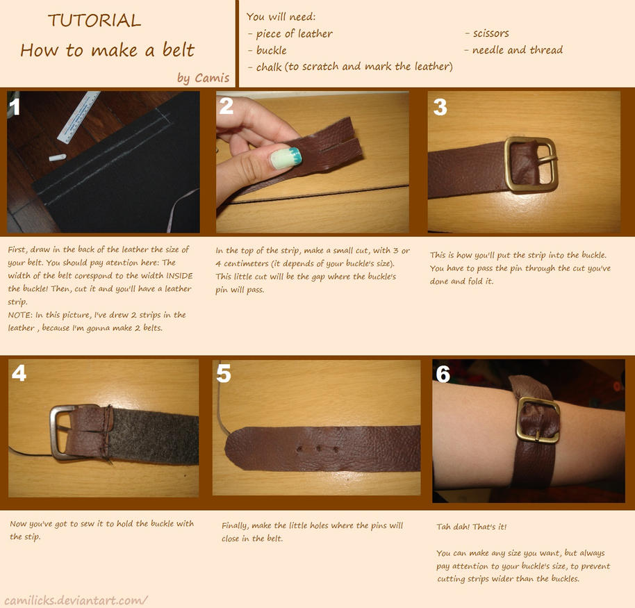 Tutorial - How to make a belt by Camilicks