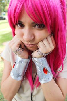 Cute little pink girl