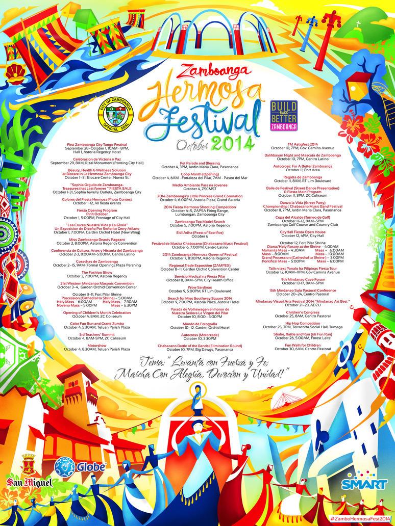 Zamboanga Hermosa Festival 2014 Poster by resurrect97