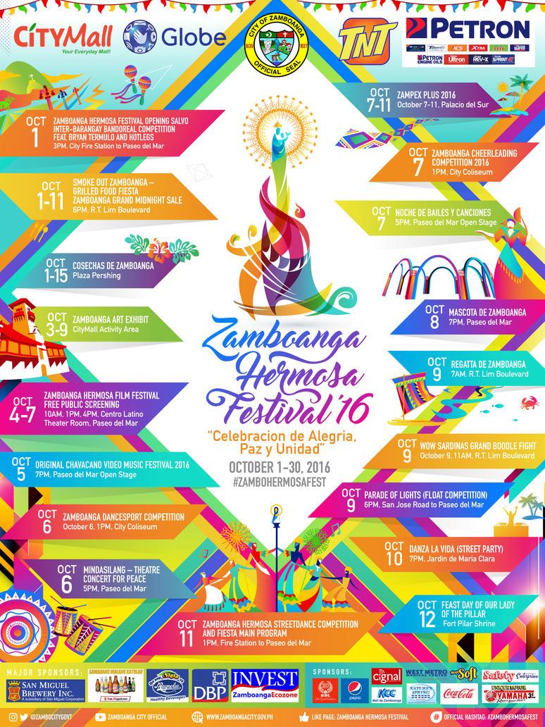 Zamboanga Hermosa Festival 2016 Poster by resurrect97
