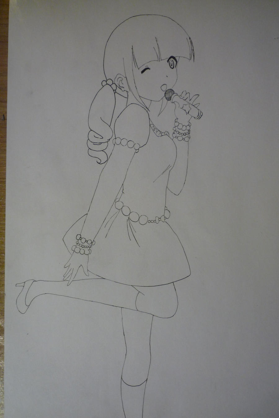 Anime Girl Singing Drawing | Www.imgkid.com - The Image Kid Has It!