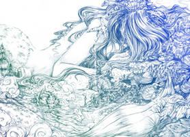 Sleeping mermaid by NiG3L