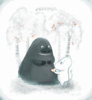 Moomin and Morra by NiG3L