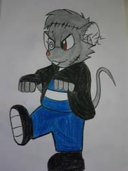 NIMH Halloween Martin the Franken-mouse by DAVIDOS995