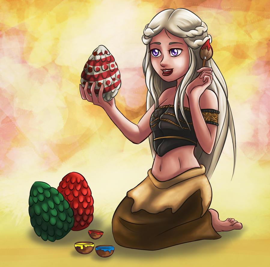 Daenerys Easter Eggs by Red-Zephyr