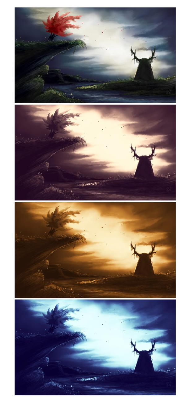 Deer Stone _ Speed painting by Red-Zephyr