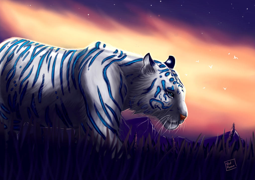 Blue Tiger by Red-Zephyr