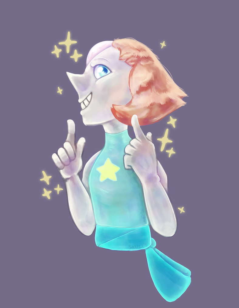 I love Steven Universe and it's a wonder I haven't drawn anything from it until now. I love all of the Crystal Gems but I have a weird soft spot for Pearl. She's wonderful, fight me.