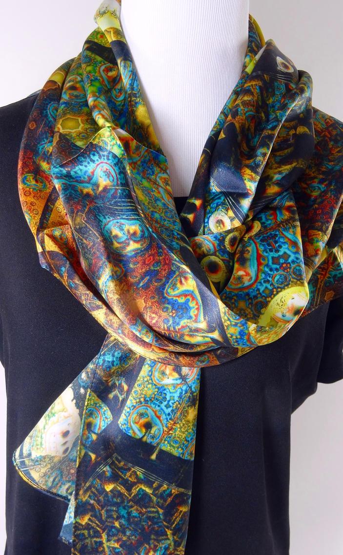 Fractal Patchwork scarf by ellenm1