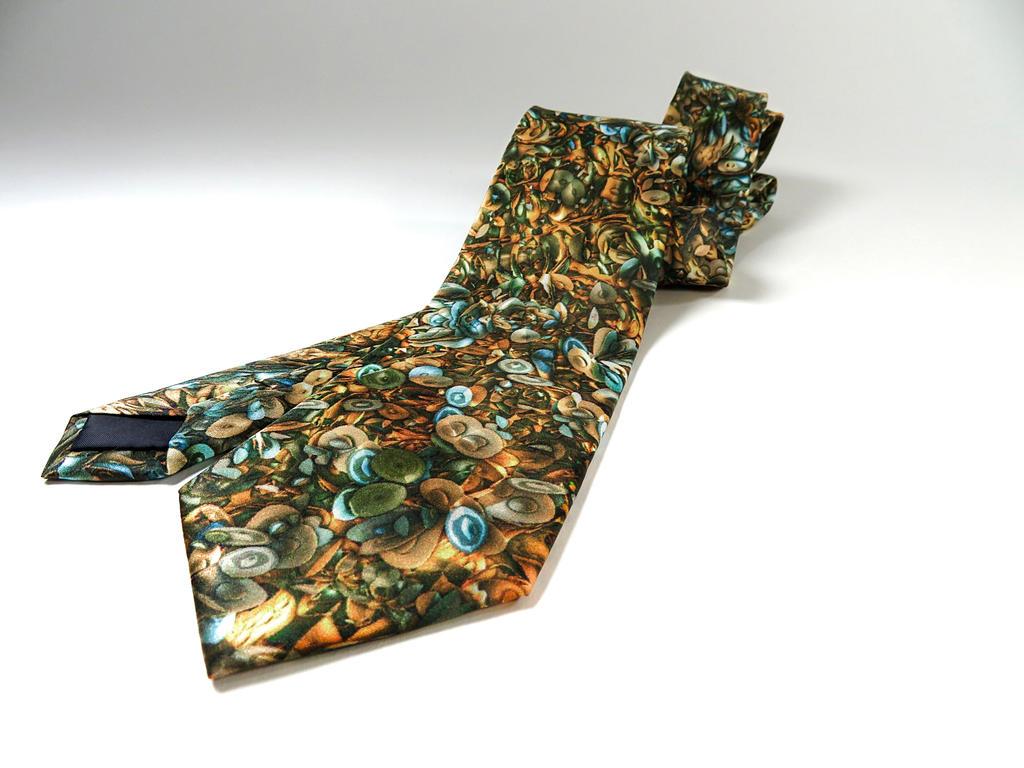Fractal Cascade silk tie by ellenm1