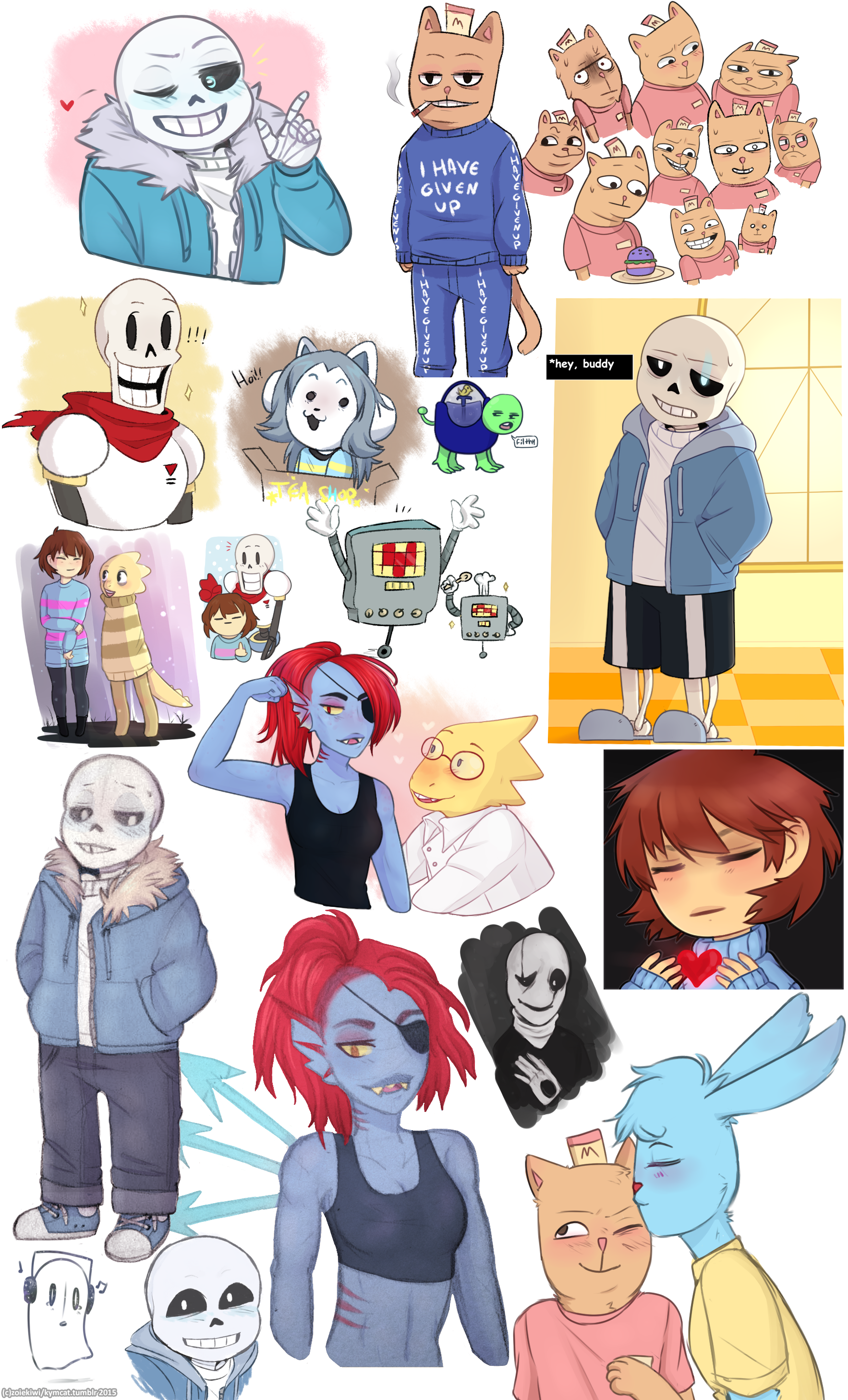 Undertale Character Dump 1 by SketchyCookie on DeviantArt