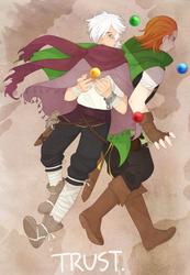 octopath traveler: TRUST by Zoiekiwi
