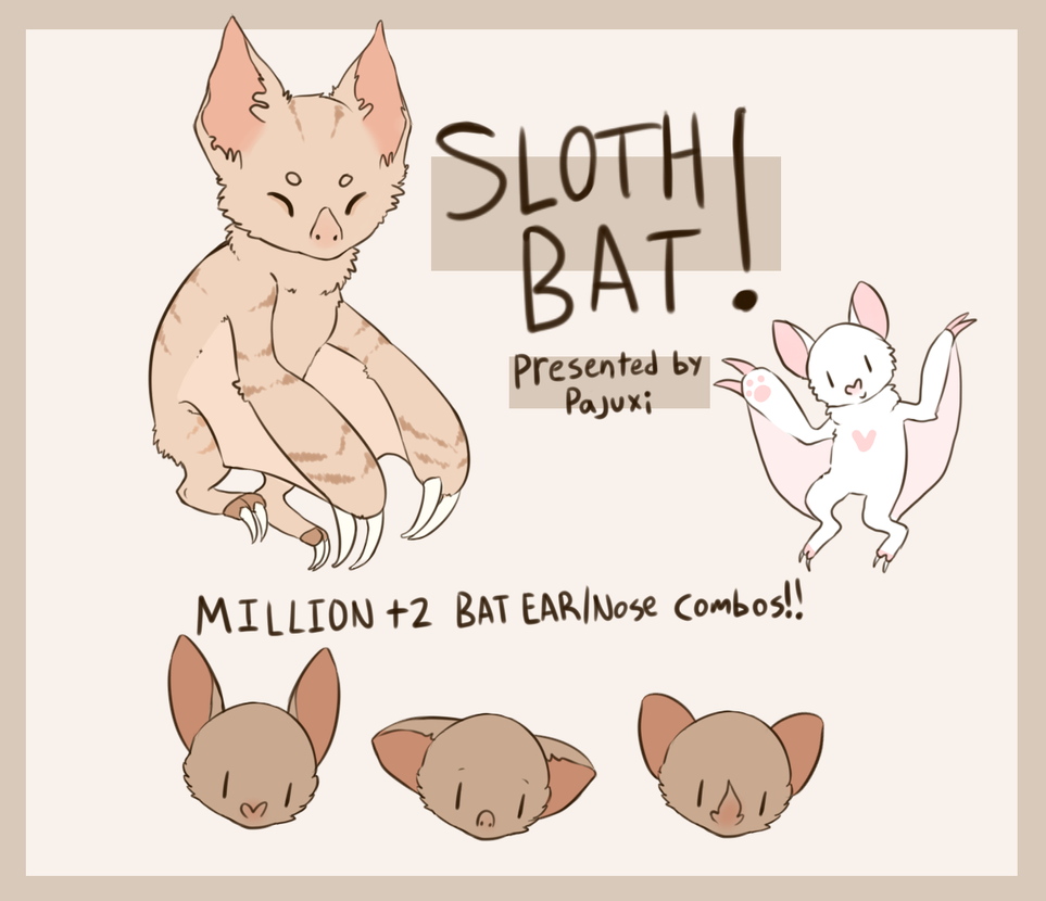 SlothBats Mini Ref! by Kiwi-adopts