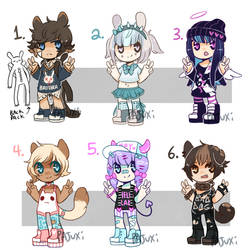 SMALL FRY ADOPTS SET 1- {CLOSED} by Pajuxi-Adopts