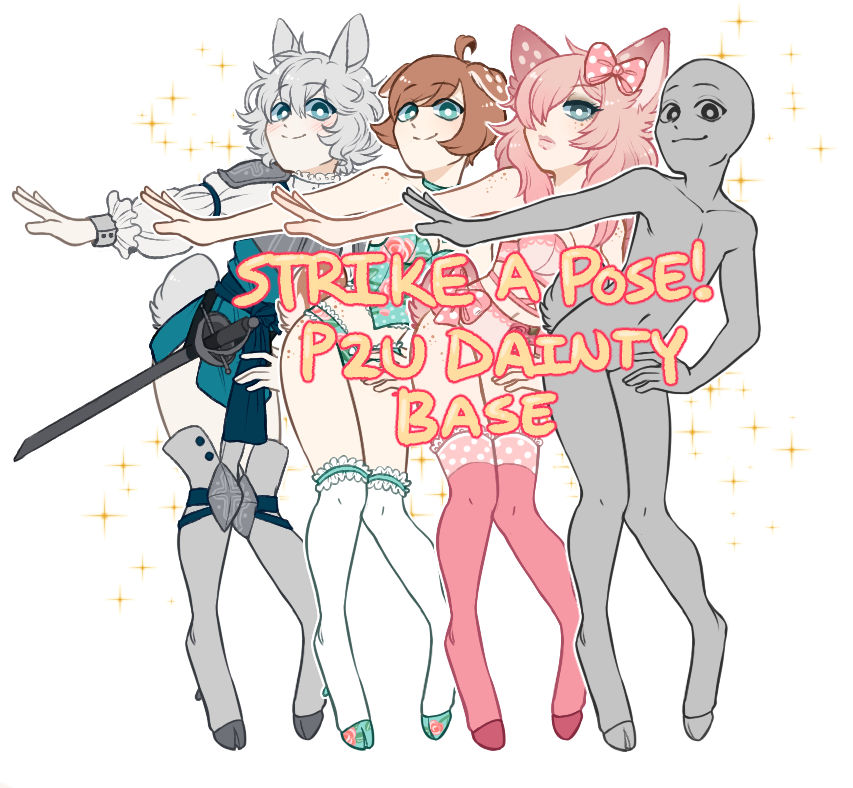 P2U DAINTY BASE- Strike a Pose!