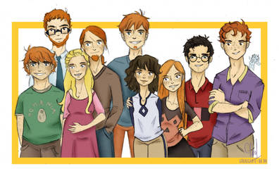 Weasleys by Grouillote-oh