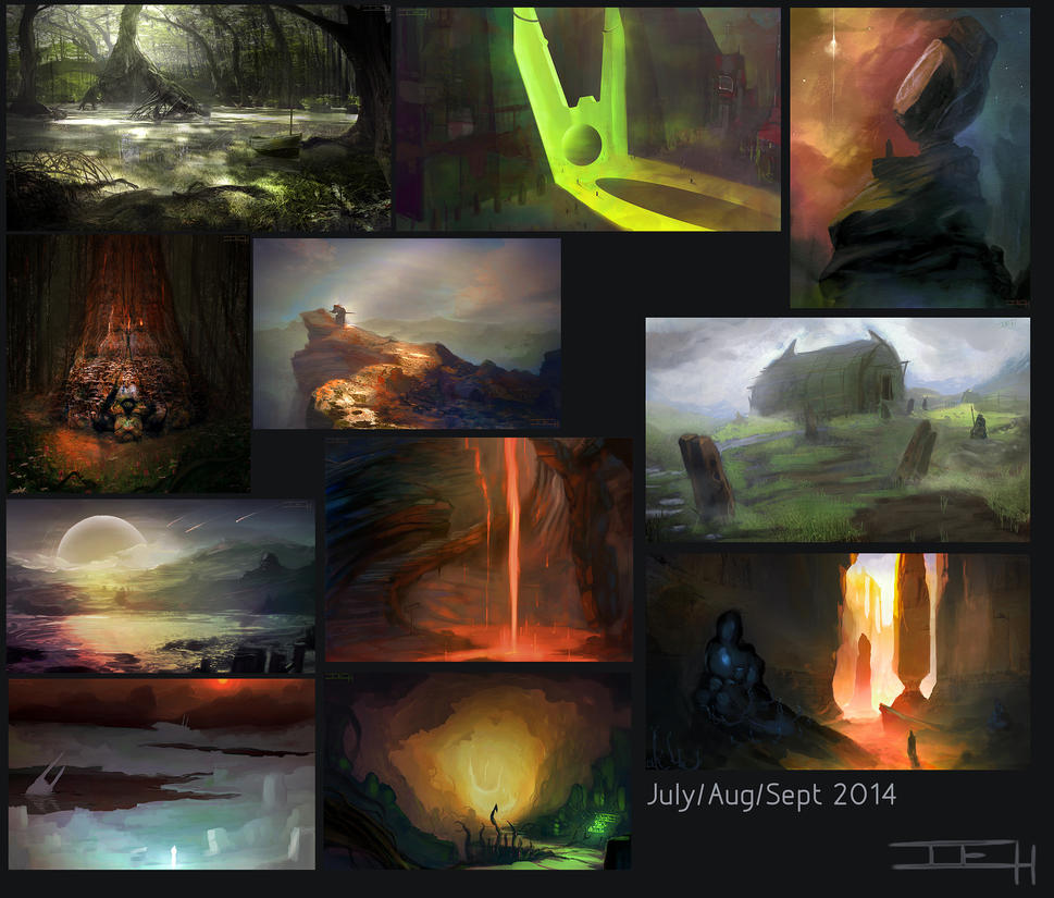 Sketches - July/Aug/Sept '14 by mistermojo28