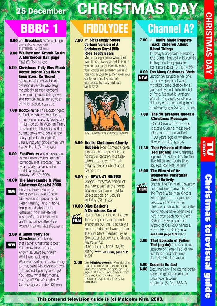 Christmas UK TV Guide by MalcolmKirk on DeviantArt