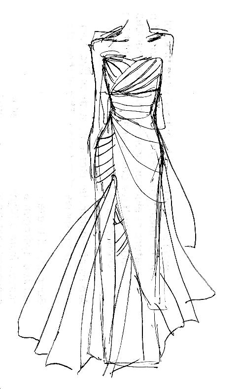 Design Dress Drawings Dress Design by