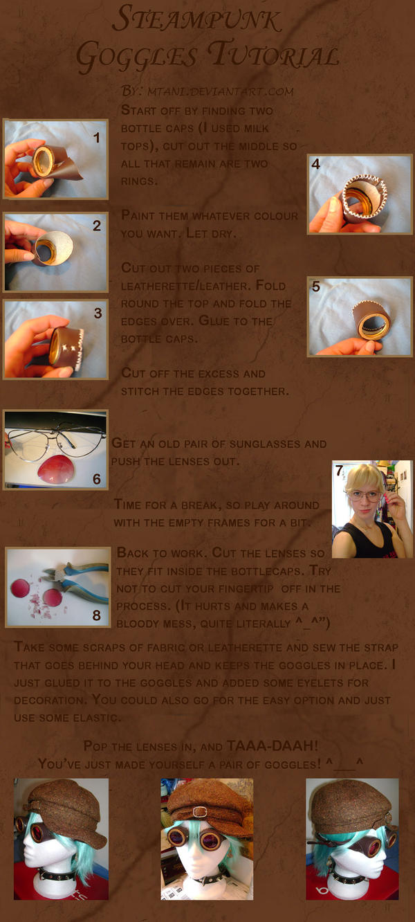 Steampunk Goggles Tutorial By Mtani On DeviantArt