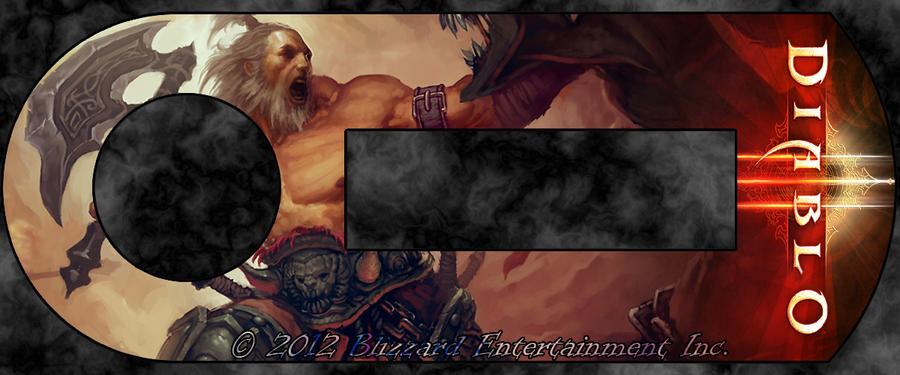 Blizzard Authenticator - Barbarian by masterxodin