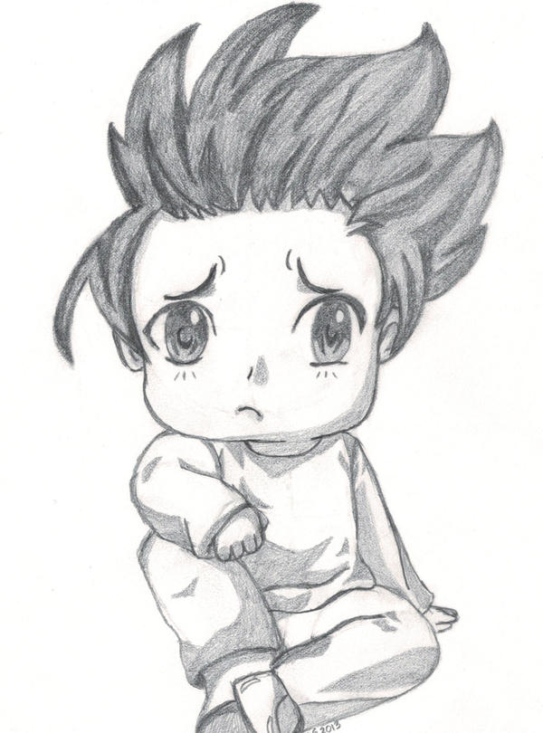 Chibi boy sad by gingernins