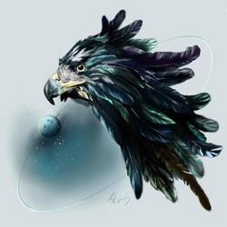 blue eagle by Alevsari