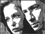 Scully and Mulder - ink