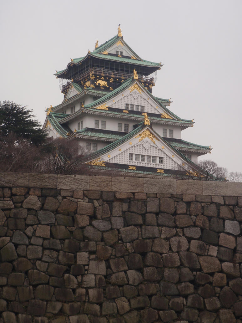 Japanese Castle.2 by shazza-stock
