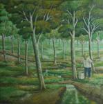 Pemandangan Pohon Karet