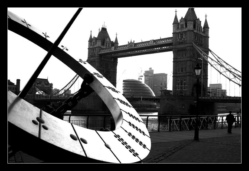 Sun Dial at Tower Bridge by paullomax