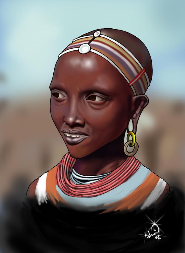 maasai woman by ericoshui