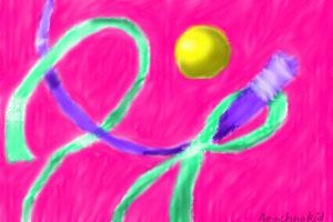 Ribbons Abstract by Arachnakid
