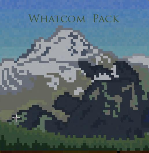 Mt. Baker Minecraft Painting by Arachnakid