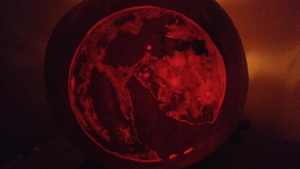 blood moon pumkin hallowen by HarimaSkull
