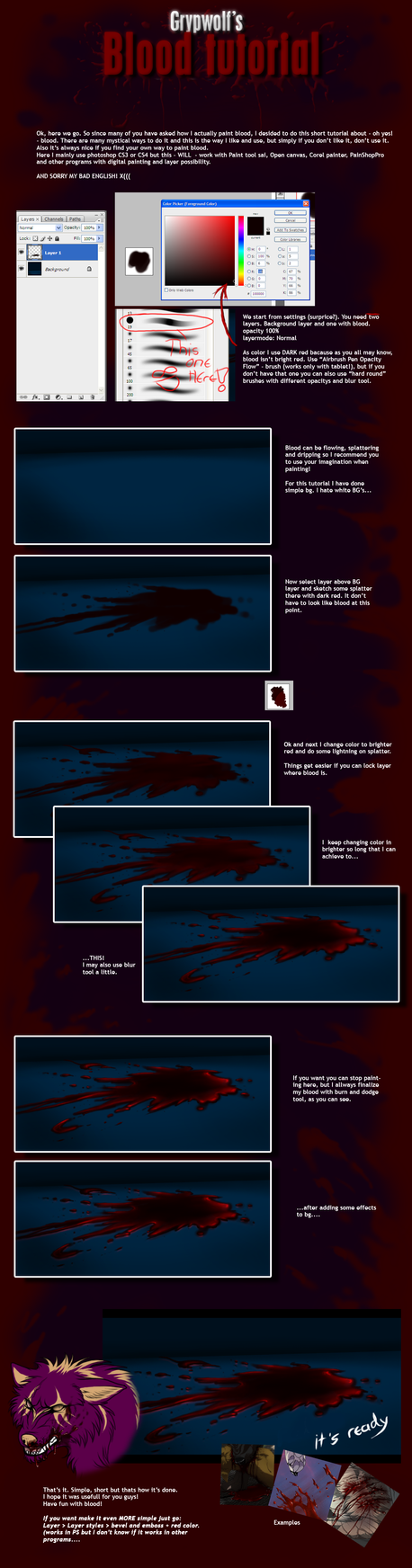 Grypwolf's Blood tutorial by Grypwolf