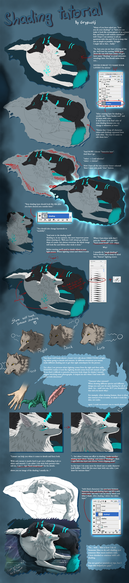 Shading tutorial by Grypwolf