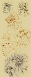 Sketcheeeeeeees by Grypwolf