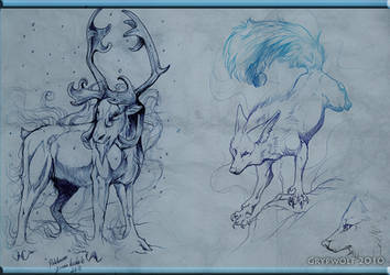 Pakkanen and Grypwolf by Grypwolf
