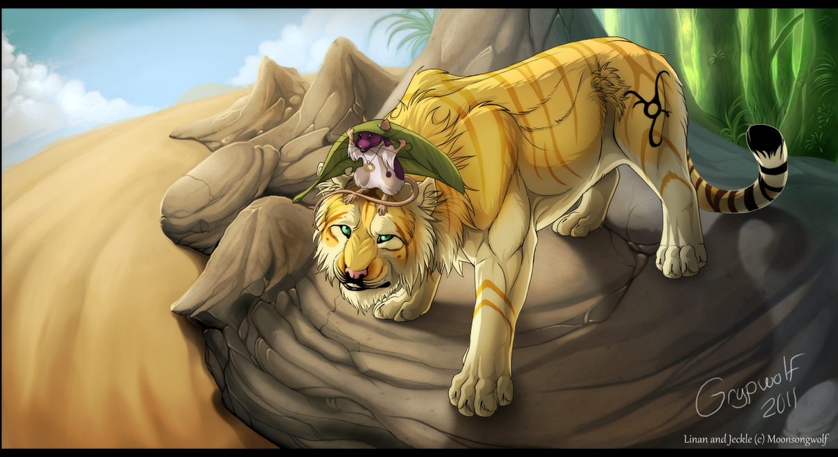 Desert travellers - commission by Grypwolf