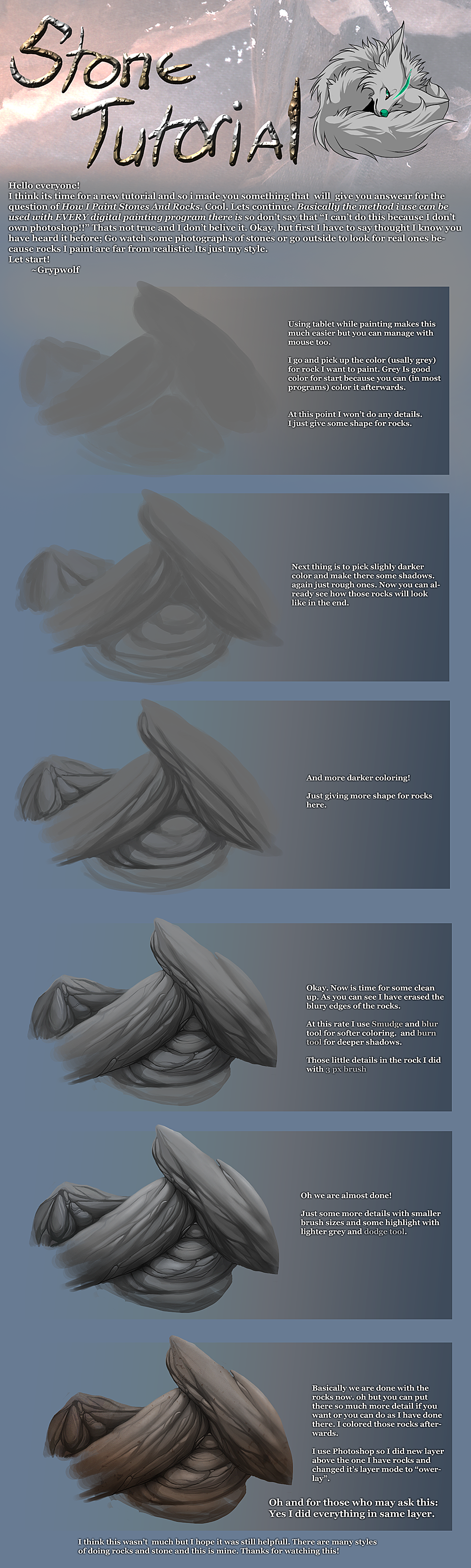 Rock sand cystal on drawing tutorials deviantart sotalean 344 32 stone tutorial by grypwolf baditri Images