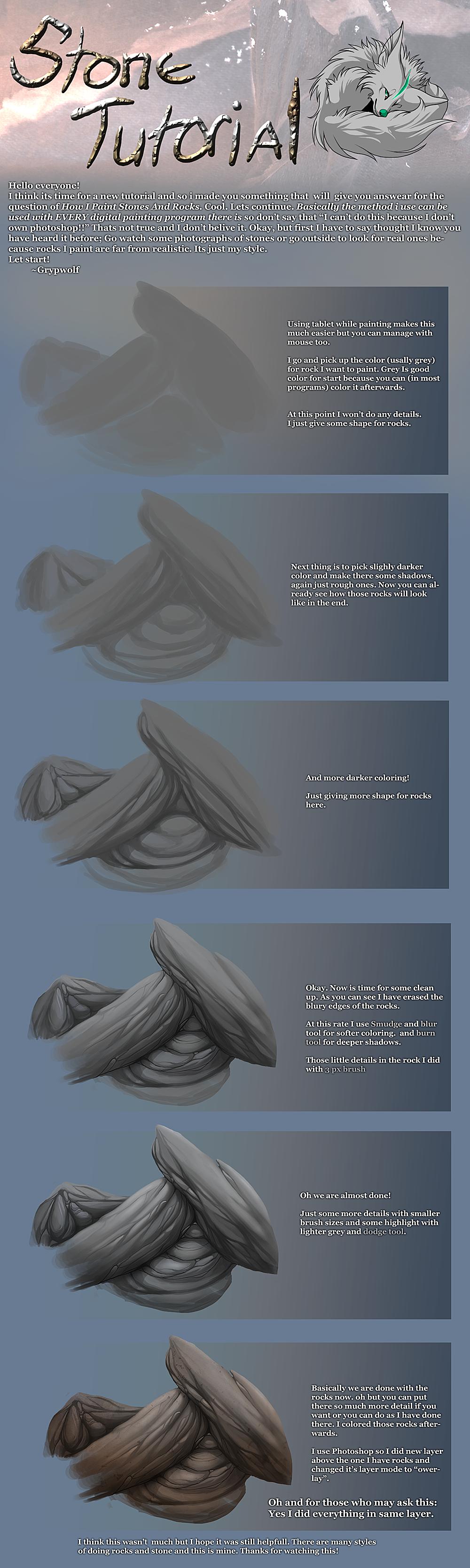 Stone Tutorial by Grypwolf