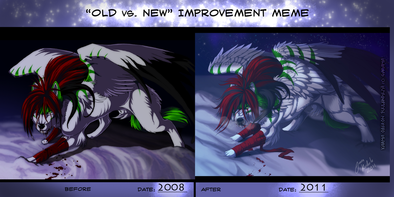 OLD vs NEW - improvement? by Grypwolf